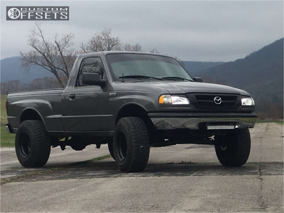 """1999 Mazda B2500 Aggressive > 1"""" outside fender on 15x10 -44 offset Black Rock 997 and 31""""x10.5"""" Falken Wildpeak At3w on Suspension Lift 4"""" - Custom Offsets Gallery"""