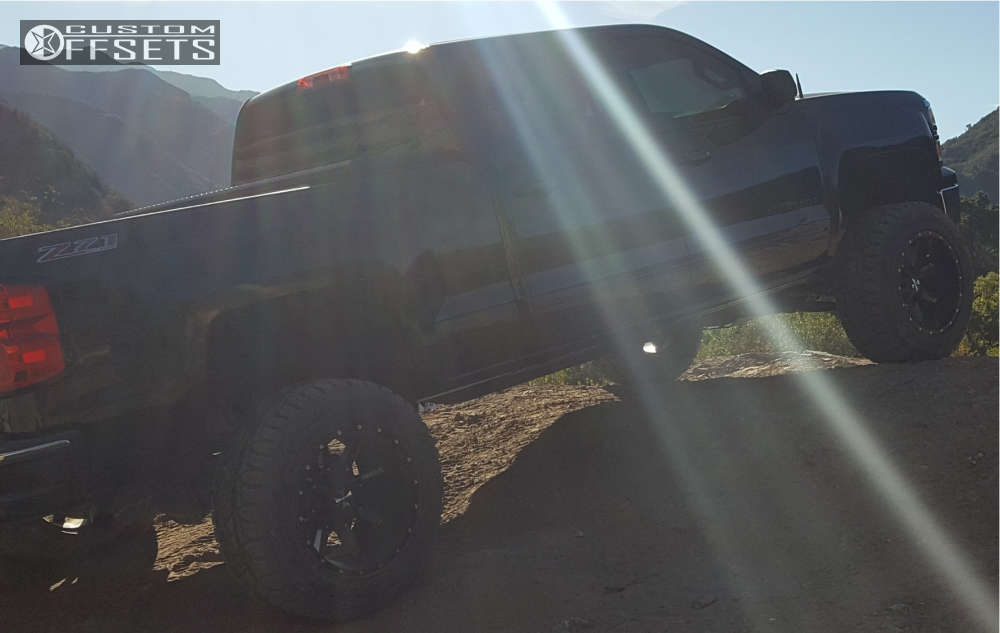 """2015 Chevrolet Silverado 1500 Super Aggressive 3""""-5"""" on 20x12 -44 offset Cali Offroad Busted and 35""""x12.5"""" Toyo Tires Open Country R/T on Suspension Lift 6"""" - Custom Offsets Gallery"""