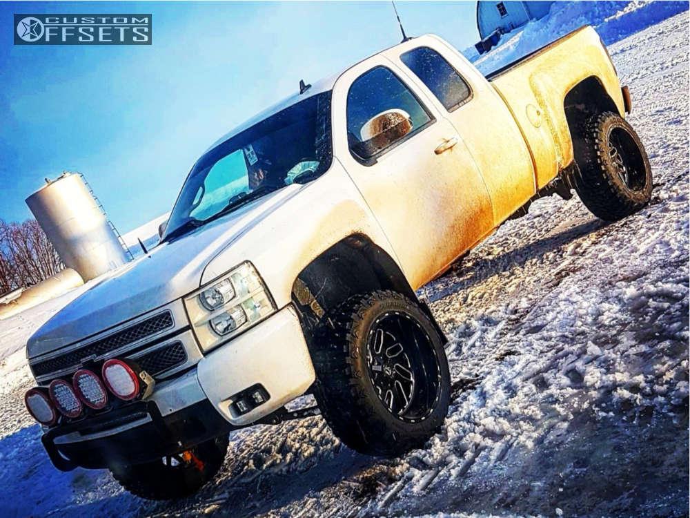 "2013 Chevrolet Silverado 1500 Super Aggressive 3""-5"" on 22x12 -44 offset Fuel Triton and 35""x12.5"" Haida Mud Champ on Suspension Lift 7.5"" - Custom Offsets Gallery"