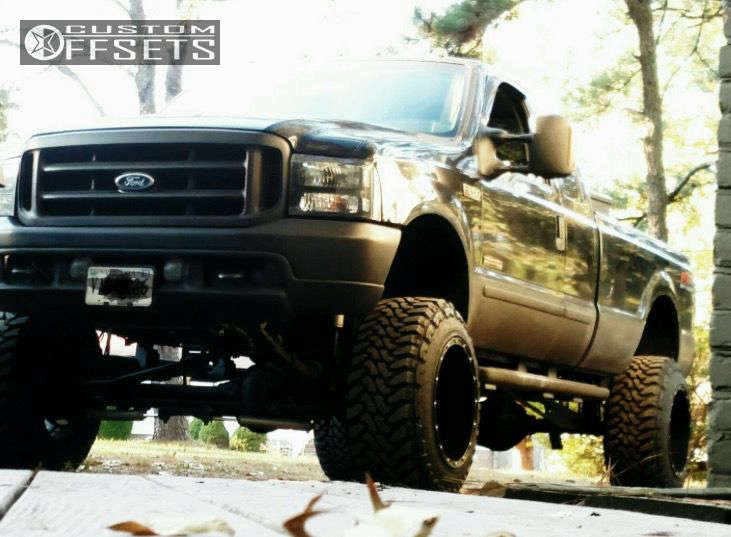 """2003 Ford F-250 Super Duty Super Aggressive 3""""-5"""" on 20x14 -76 offset Fuel Hostage and 35""""x12.5"""" Toyo Tires Open Country M/T on Suspension Lift 7"""" - Custom Offsets Gallery"""