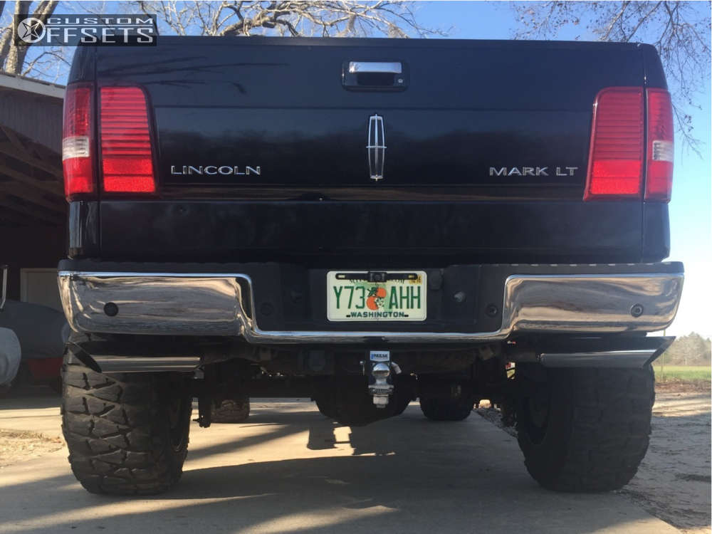 """2006 Lincoln Mark LT Super Aggressive 3""""-5"""" on 20x14 -76 offset Fuel Hostage and 37""""x13.5"""" Nitto Mud Grappler on Suspension Lift 6"""" - Custom Offsets Gallery"""