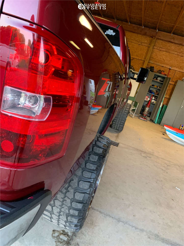 """2013 Chevrolet Silverado 1500 Super Aggressive 3""""-5"""" on 20x12 -44 offset Gear Off-Road Big Block & 33""""x12.5"""" Federal Couragia Mt on Suspension Lift 6"""" - Custom Offsets Gallery"""