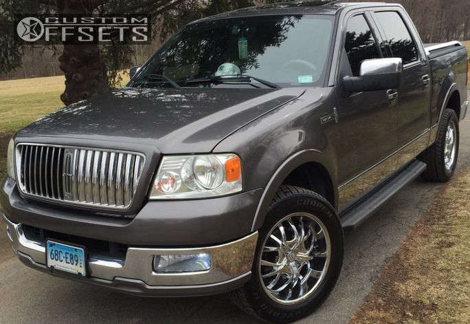 2006 Lincoln Mark LT  on 20x9 30 offset VCT Romano and 275/55 Cooper Discoverer HT Plus on Stock - Custom Offsets Gallery