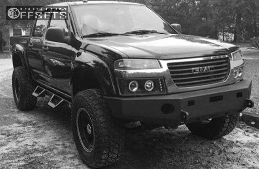 """2008 Chevrolet Colorado Aggressive > 1"""" outside fender on 17x9 -8 offset Eagle Alloy Series 185 & 305/55 Cooper Discoverer S/T Maxx on Lifted >9"""" - Custom Offsets Gallery"""
