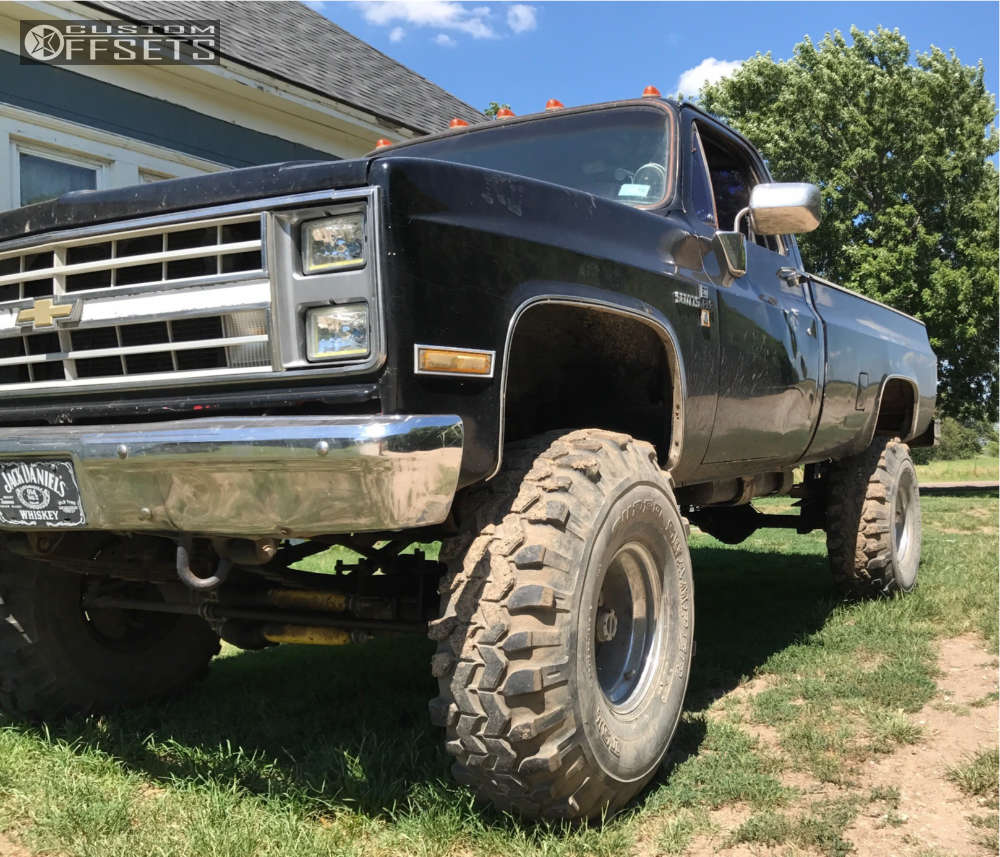 """1986 Chevrolet K10 Pickup Super Aggressive 3""""-5"""" on 20x12 -44 offset Fuel Maverick and 35""""x12.5"""" Toyo Tires Open Country M/T on Suspension Lift 6"""" & Body 3"""" - Custom Offsets Gallery"""