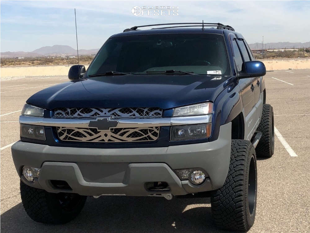 """2002 Chevrolet Avalanche Super Aggressive 3""""-5"""" on 22x12 -44 offset Savage Offroad 175 & 325/50 Atturo Trail Blade Xt on Suspension Lift 6"""" - Custom Offsets Gallery"""