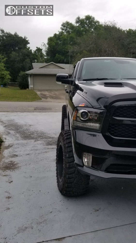 """2017 Ram 1500 Super Aggressive 3""""-5"""" on 20x12 -44 offset Fuel Hostage & 37""""x13.5"""" Cooper Discoverer Stt Pro on Suspension Lift 6"""" & Body 3"""" - Custom Offsets Gallery"""