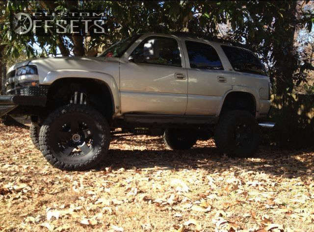 """2004 Chevrolet Tahoe Super Aggressive 3""""-5"""" on 18x9 0 offset XD Rockstar and 37""""x13.5"""" Toyo Tires Open Country M/T on Lifted >9"""" - Custom Offsets Gallery"""