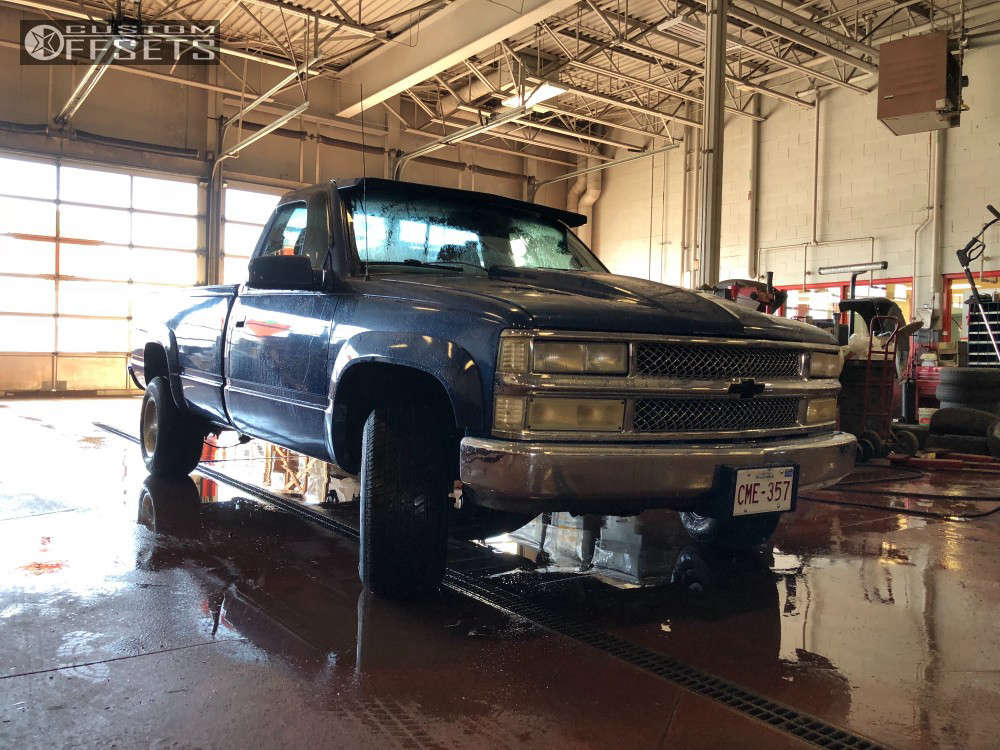 """1997 Chevrolet C1500 Aggressive > 1"""" outside fender on 15x10 -44 offset American Racing Ventura & 275/60 Cooper Cobra Radial Gt on Air Suspension - Custom Offsets Gallery"""