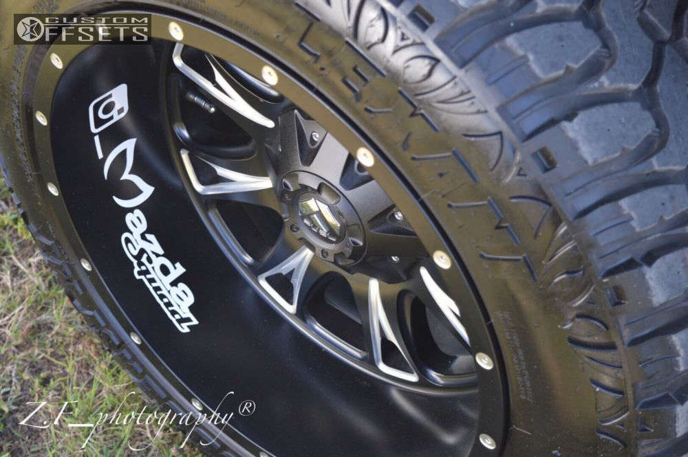 """2002 Mazda B3000 Super Aggressive 3""""-5"""" on 20x12 -44 offset Fuel Throttle and 33""""x12.5"""" Lexani Mud Beast MT on Suspension Lift 4"""" - Custom Offsets Gallery"""