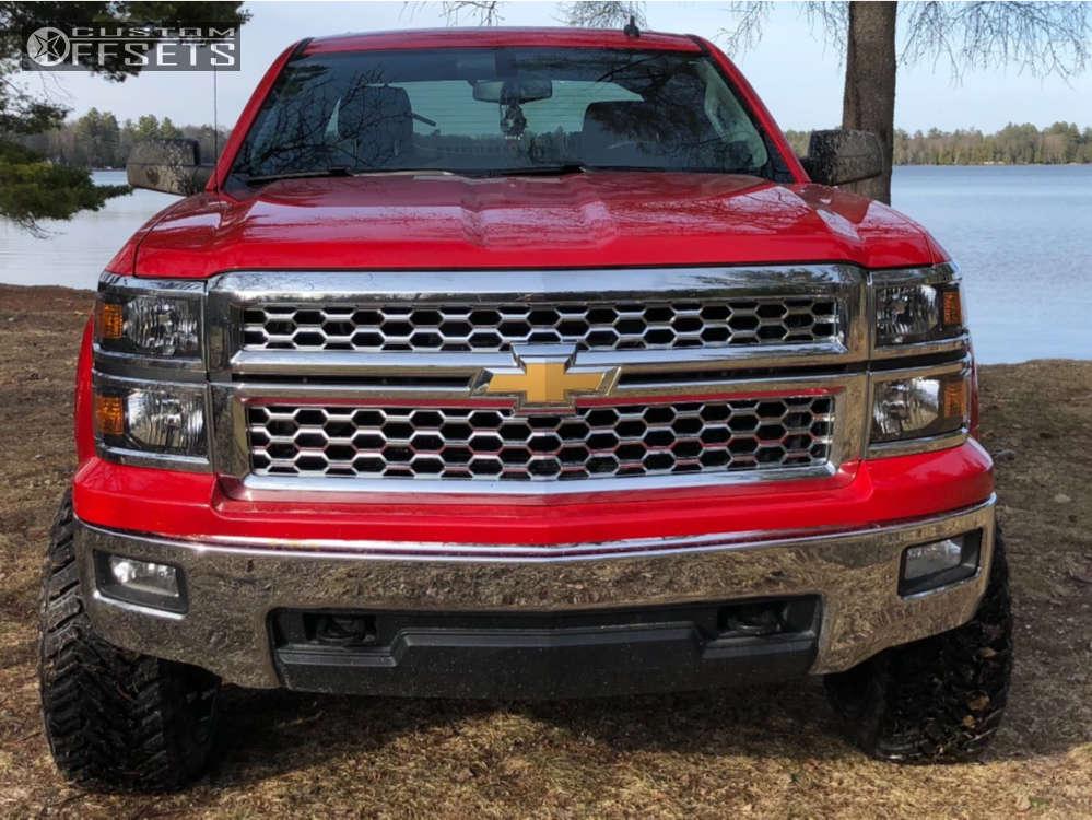 "2014 Chevrolet Silverado 1500 Super Aggressive 3""-5"" on 22x12 -44 offset Fuel Hardline & 33""x12.5"" Atturo Trail Blade Mt on Suspension Lift 6"" - Custom Offsets Gallery"