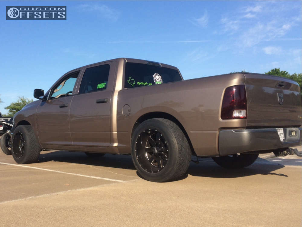 """2010 Dodge Ram 1500 Super Aggressive 3""""-5"""" on 20x12 -44 offset Moto Metal Mo962 & 305/50 Nitto Nt420s on Lowered on Springs - Custom Offsets Gallery"""