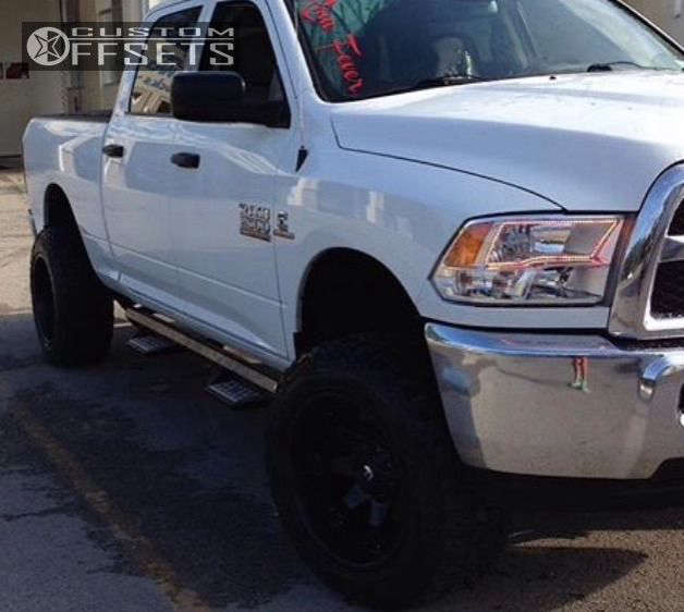 """2014 Ram 2500 Super Aggressive 3""""-5"""" on 20x12 -44 offset Fuel Octane and 305/55 Mickey Thompson Baja ATZ P3 on Leveling Kit - Custom Offsets Gallery"""