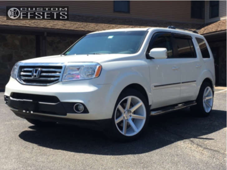 2012 Honda Pilot Nearly Flush on 20x10.5 35 offset Niche Verona & 275/45 Toyo Tires Proxes S/t on Stock Suspension - Custom Offsets Gallery