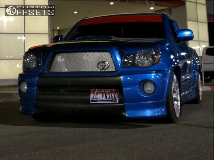 2009 Toyota Tacoma Nearly Flush on 18x8.5 20 offset Xxr 566 and 225/45 Federal Ss595 on Lowered 3F / 5R - Custom Offsets Gallery
