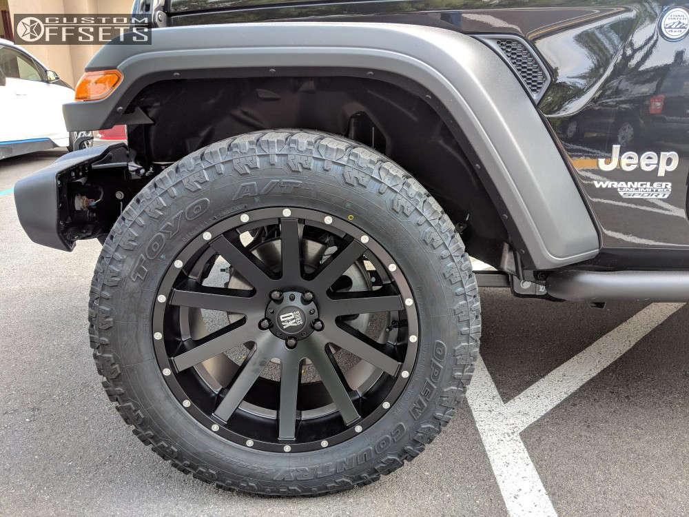 """2018 Jeep Wrangler Super Aggressive 3""""-5"""" on 20x10 -24 offset XD Heist and 33""""x12.5"""" Toyo Tires Open Country A/t Ii on Stock Suspension - Custom Offsets Gallery"""