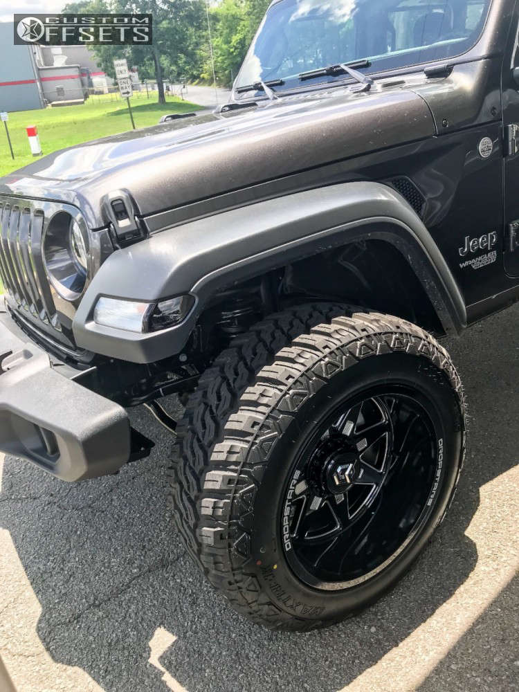 """2018 Jeep Wrangler Super Aggressive 3""""-5"""" on 20x12 -44 offset Dropstars 655bm and 35""""x12.5"""" Maxtrek Mud Trac M/t on Suspension Lift 2.5"""" - Custom Offsets Gallery"""