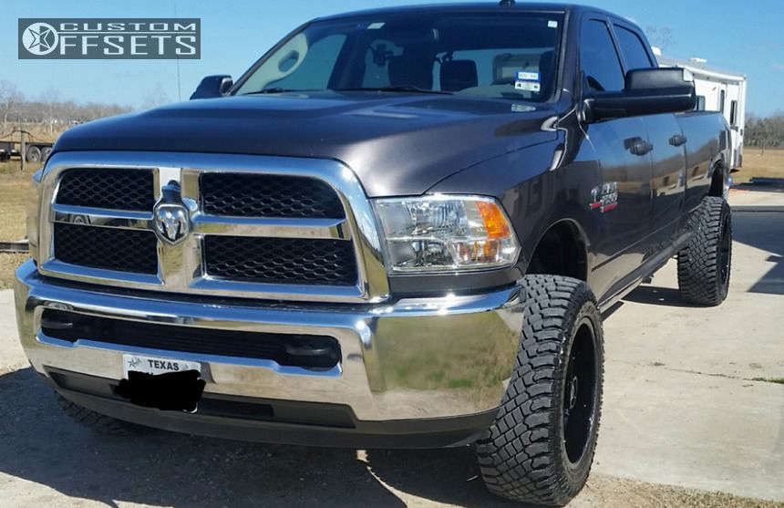 """2014 Ram 2500 Aggressive > 1"""" outside fender on 20x10 -18 offset Fuel Turbo and 33""""x12.5"""" Atturo Trail Blade XT on Stock - Custom Offsets Gallery"""