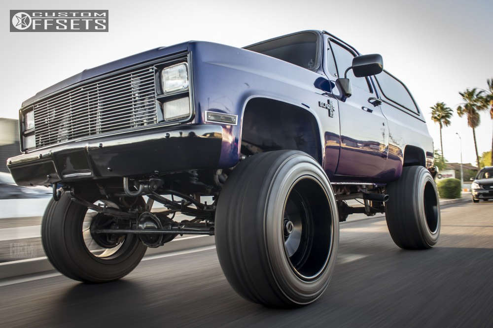 "1984 Chevrolet K5 Blazer Super Aggressive 3""-5"" on 22x14 -76 offset Fuel Octane and 37""x13.5"" Atturo Trail Blade Mt on Suspension Lift 6"" - Custom Offsets Gallery"