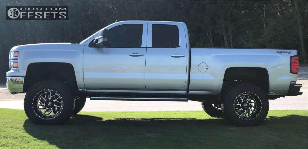 "2014 Chevrolet Silverado 1500 Super Aggressive 3""-5"" on 20x12 -44 offset Moto Metal Mo985 & 35""x12.5"" Cooper Discoverer S/t Maxx on Suspension Lift 8"" - Custom Offsets Gallery"