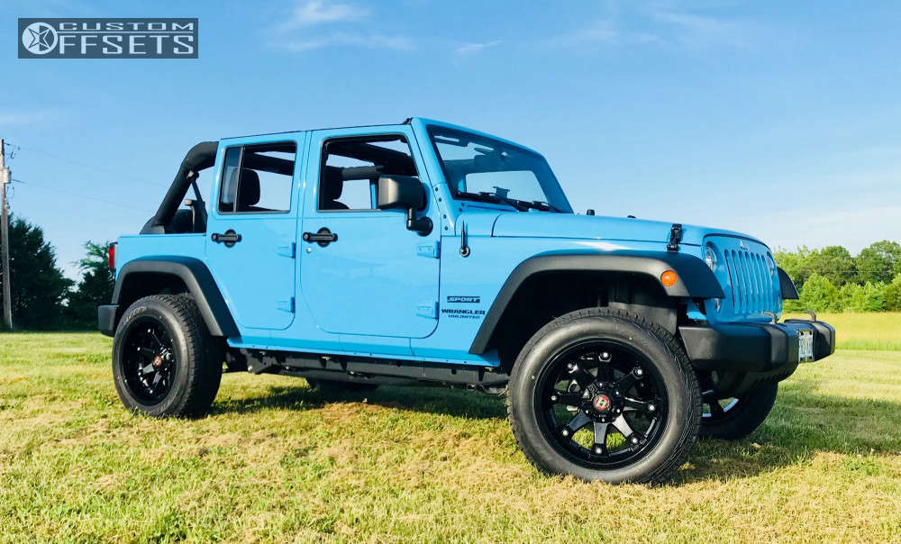 2017 Jeep Wrangler Slightly Aggressive on 20x10 -24 offset Ballistic Beast and 275/60 Atturo Trail Blade At on Leveling Kit - Custom Offsets Gallery
