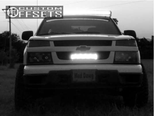 """2012 Chevrolet Colorado Super Aggressive 3""""-5"""" on 16x10 -25 offset American Racing Baja and 245/75 Hankook Dynapro MT on Stock Suspension - Custom Offsets Gallery"""