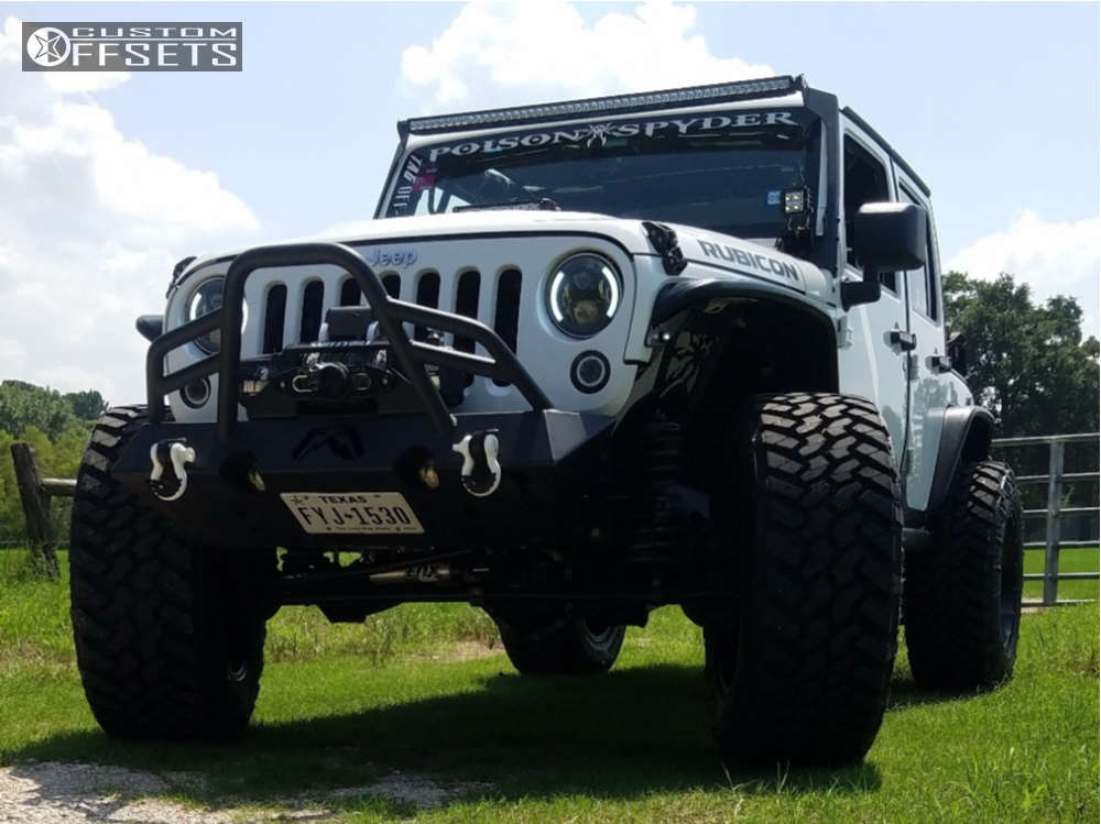 """2014 Jeep Wrangler Super Aggressive 3""""-5"""" on 20x12 -44 offset Hostile Sprocket and 37""""x13.5"""" Nitto Trail Grappler on Suspension Lift 4"""" - Custom Offsets Gallery"""