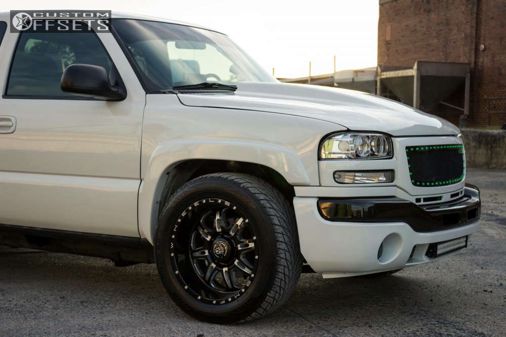 2001 GMC K2500 Nearly Flush on 20x10 -19 offset Bmf Fite and 305/50 Toyo Tires Proxes S/t on Lowered 3F / 5R - Custom Offsets Gallery