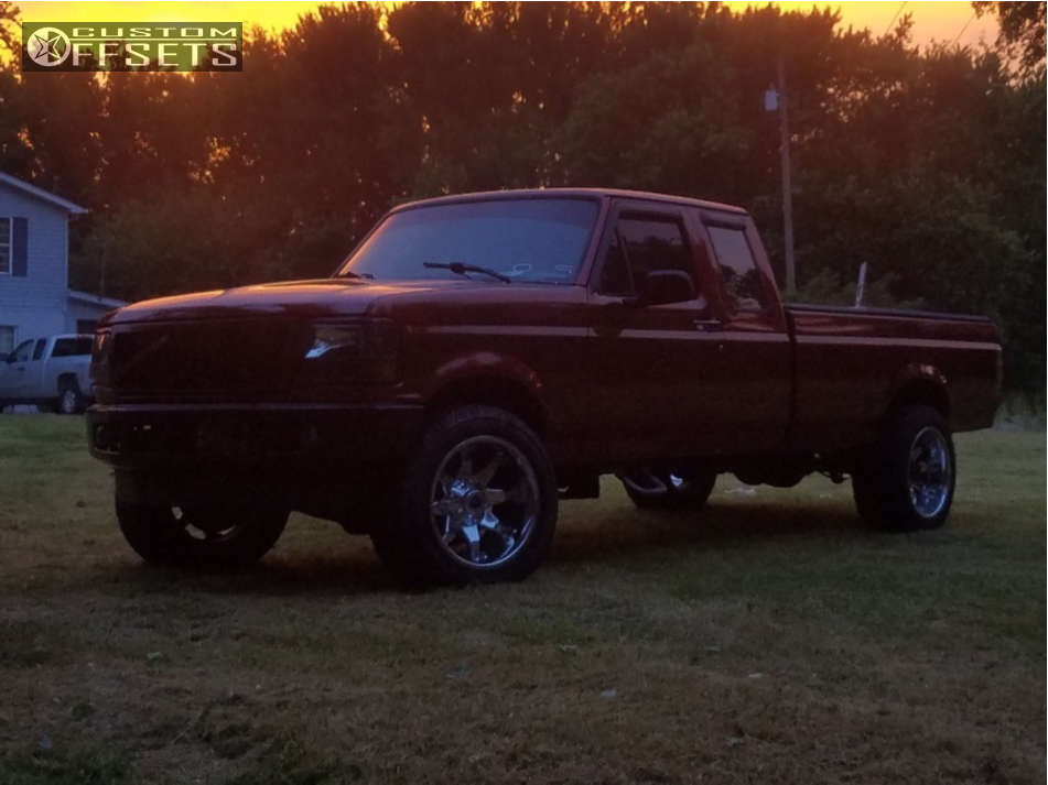 """1995 Ford F-250 Super Aggressive 3""""-5"""" on 20x12 -40 offset Fuel Octane & 305/50 Cooper Zeon Ltz on Level 2"""" Drop Rear - Custom Offsets Gallery"""