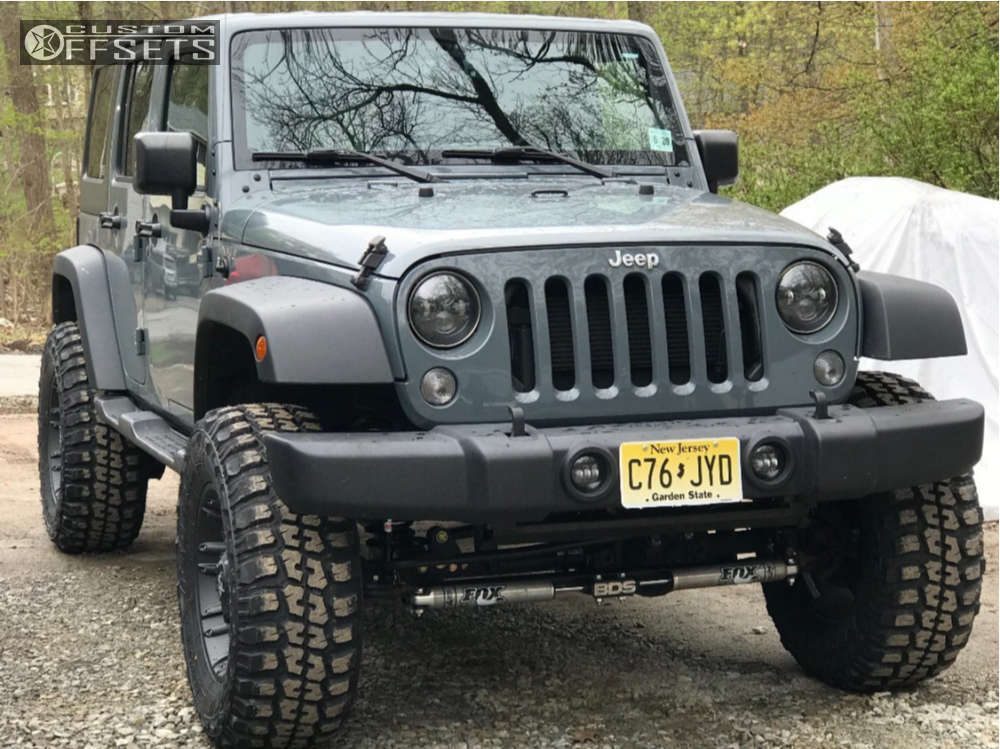 """2015 Jeep Wrangler Flush on 18x9 -12 offset Fuel Octane and 35""""x12.5"""" Federal Couragia Mt on Suspension Lift 4.5"""" - Custom Offsets Gallery"""