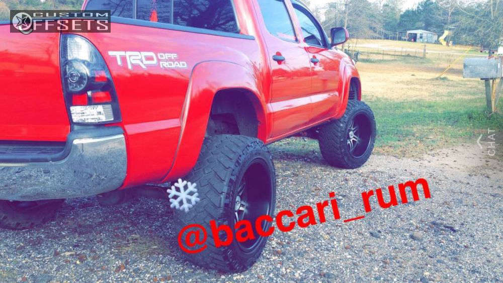 """2014 Toyota Tacoma Super Aggressive 3""""-5"""" on 20x12 -44 offset Alloy Ion Style 183 and 305/55 Nitto Trail Grappler on Suspension Lift 6"""" - Custom Offsets Gallery"""