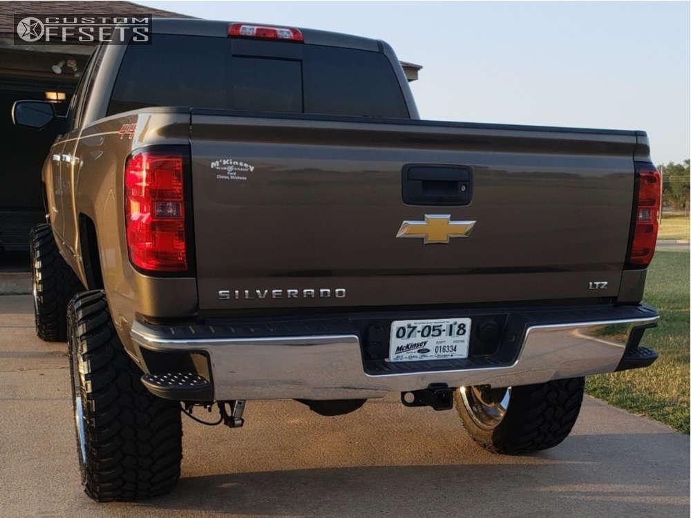 "2014 Chevrolet Silverado 1500 Super Aggressive 3""-5"" on 22x12 -44 offset Gear Off-Road Big Block & 325/50 AMP Mud Terrain Attack MT A on Suspension Lift 7"" - Custom Offsets Gallery"