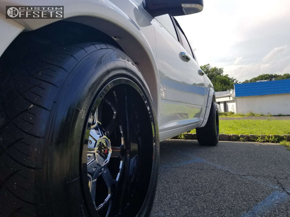 """2016 Ram 1500 Super Aggressive 3""""-5"""" on 20x12 -44 offset XD Buck & 305/50 Nitto Nt420s on Lowered on Springs - Custom Offsets Gallery"""