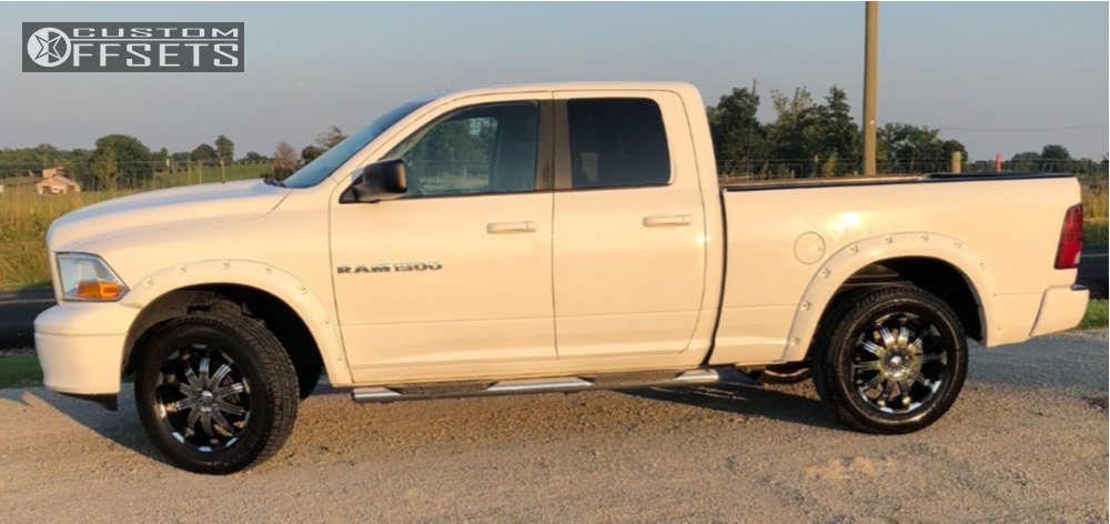 "2007 Dodge Ram 2500 Tucked on 20x8.5 35 offset Verde Avatar & 275/60 Michelin Pilot Sport on Suspension Lift 2.5"" - Custom Offsets Gallery"