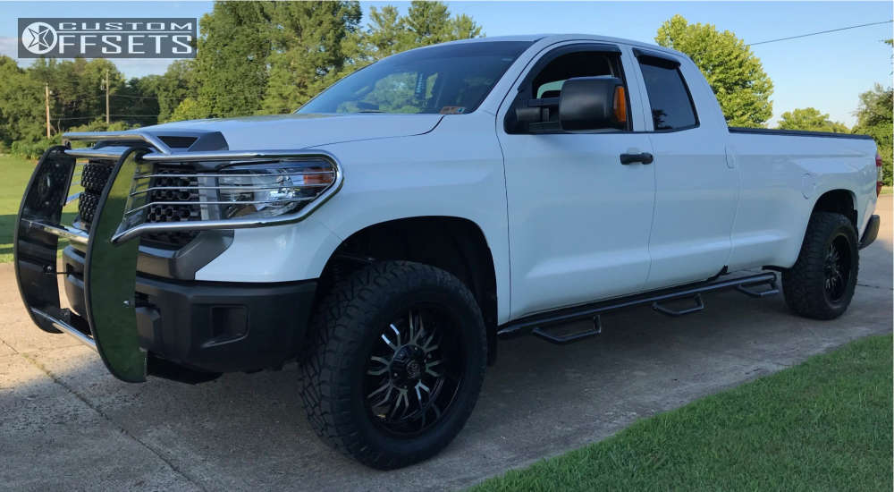 2018 Toyota Tundra Slightly Aggressive on 20x9 0 offset Panther Offroad 580 and 275/60 Nitto Ridge Grappler on Leveling Kit - Custom Offsets Gallery