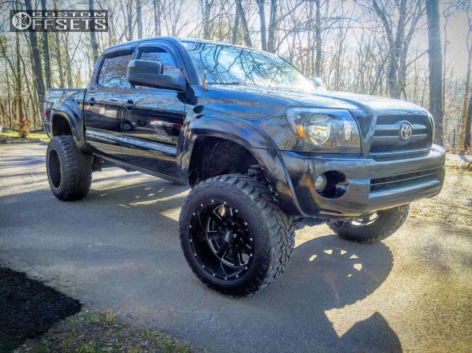"""2006 Toyota Tacoma Super Aggressive 3""""-5"""" on 20x12 -44 offset Moto Metal MO962 and 305/55 Mastercraft Courser Mxt on Suspension Lift 6"""" - Custom Offsets Gallery"""