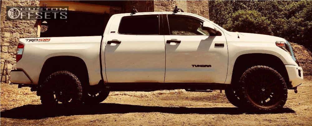 "2018 Toyota Tundra Aggressive > 1"" outside fender on 20x9 20 offset Fuel Vapor & 295/55 Nitto Ridge Grappler on Suspension Lift 4"" - Custom Offsets Gallery"