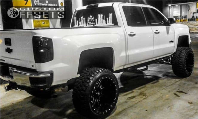 """2014 Chevrolet Silverado 1500 Super Aggressive 3""""-5"""" on 24x14 -76 offset Xtreme Mudder Xm-304 & 37""""x14.5"""" Comforser Cf3000 on Lifted >12"""" - Custom Offsets Gallery"""