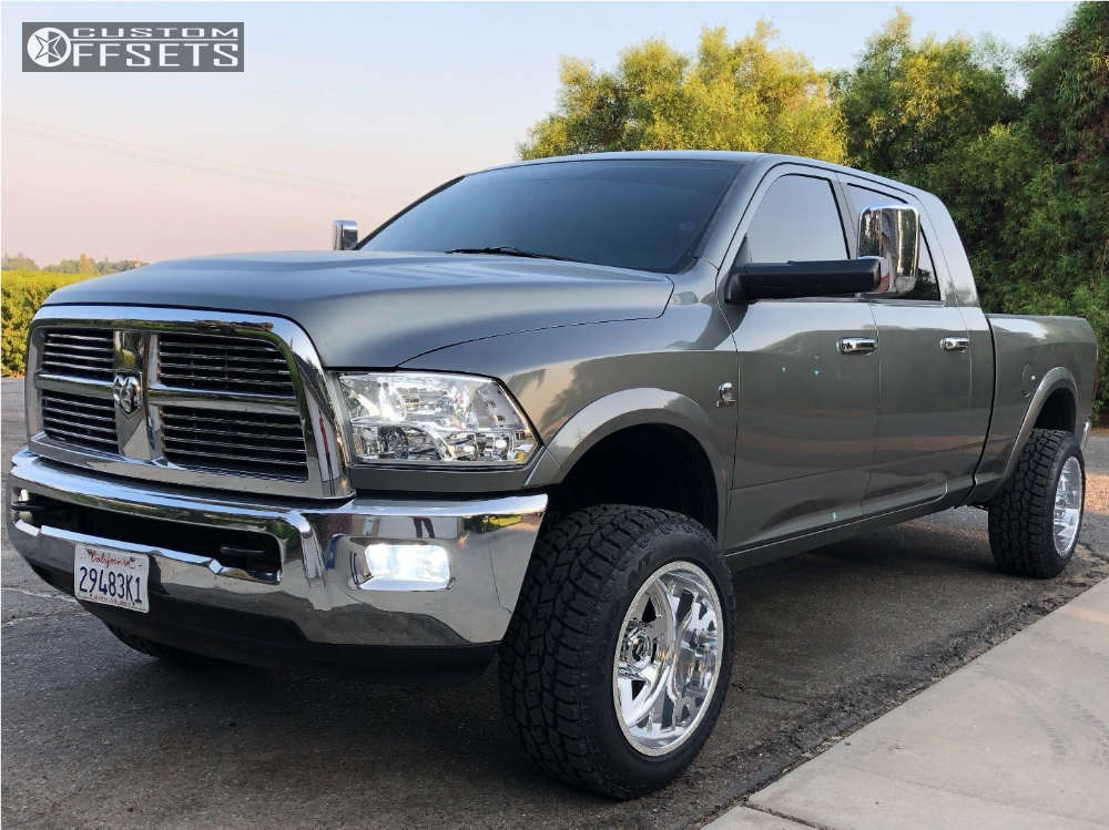 """2012 Ram 2500 Super Aggressive 3""""-5"""" on 20x12 -51 offset Fuel Forged Ff09 and 285/55 Toyo Tires Open Country A/t Ii on Leveling Kit - Custom Offsets Gallery"""