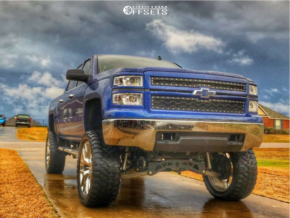 """2014 Chevrolet Silverado 1500 Aggressive > 1"""" outside fender on 24x10 31 offset Oe Performance 169 & 37""""x13.5"""" Rbp Repulsor Mt on Lifted >12"""" - Custom Offsets Gallery"""