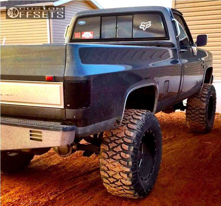 "1985 Chevrolet K10 Pickup  on 20x12 -44 offset Moto Metal MO962 and 38""x15.5"" Mickey Thompson Baja MTZ on Suspension Lift 8"" - Custom Offsets Gallery"