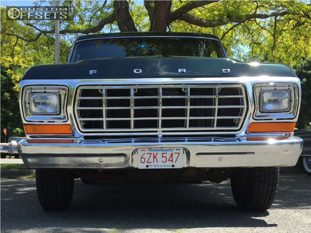 1979 Ford F-100 Pickup Nearly Flush on 15x7 -7 offset Ultra Type 62 and 235/75 Cooper Discoverer At3 on Stock Suspension - Custom Offsets Gallery