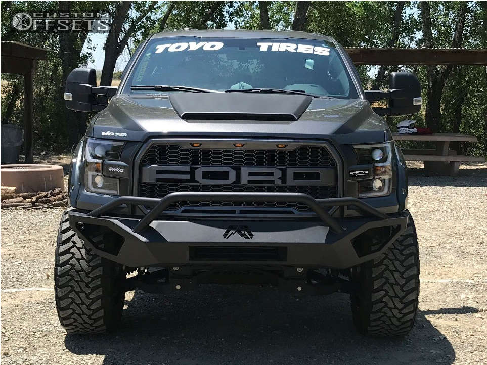 """2015 Ford F-150 Aggressive > 1"""" outside fender on 20x12 -44 offset Fuel Maverick D538 & 35""""x12.5"""" Toyo Tires Open Country M/T on Suspension Lift 6"""" - Custom Offsets Gallery"""