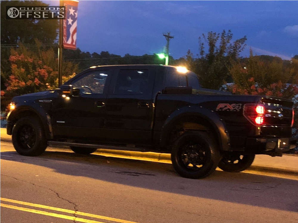 2014 Ford F-150 Tucked on 20x9 0 offset Panther Offroad 580 and 275/60 Accelera Alpha on Stock Suspension - Custom Offsets Gallery