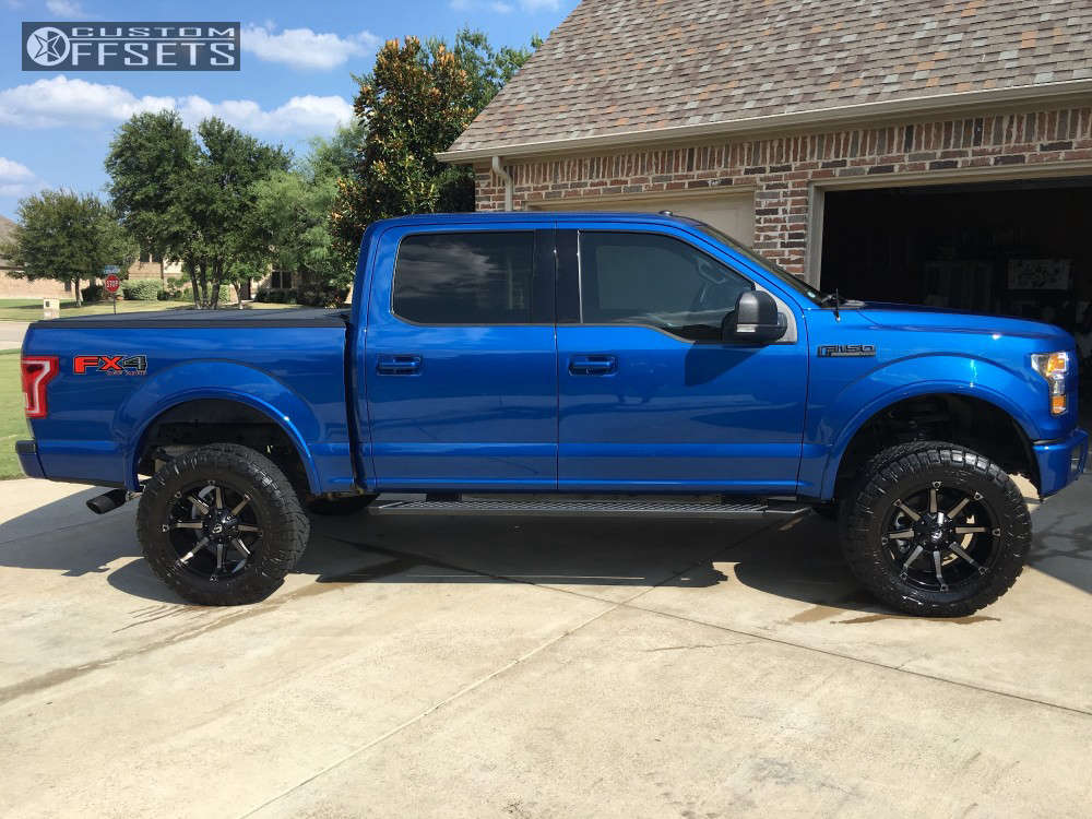 """2017 Ford F-150 Aggressive > 1"""" outside fender on 20x10 -12 offset Fuel Coupler and 35""""x12.5"""" Nitto Ridge Grappler on Suspension Lift 6"""" - Custom Offsets Gallery"""