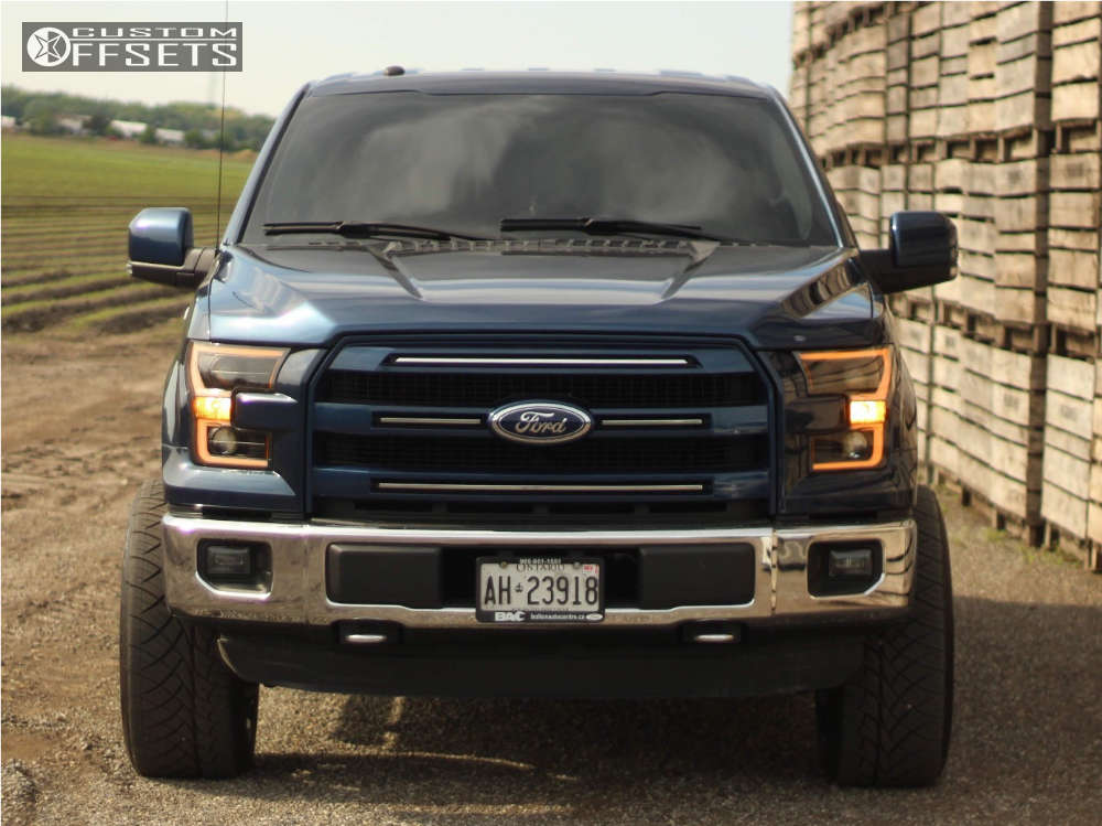 """2016 Ford F-150 Super Aggressive 3""""-5"""" on 22x12 -44 offset Fuel Rampage and 305/45 Nitto Nt420s on Leveling Kit - Custom Offsets Gallery"""