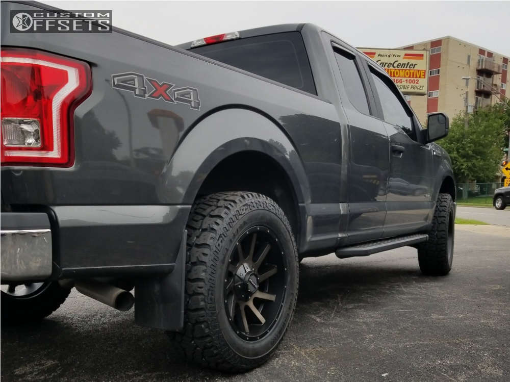 """2016 Ford F-150 Aggressive > 1"""" outside fender on 20x9 0 offset Raceline Twist and 275/65 Dick Cepek Fun Country on Leveling Kit - Custom Offsets Gallery"""
