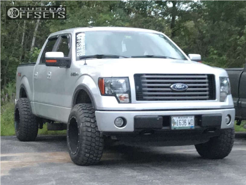 """2012 Ford F-150 Super Aggressive 3""""-5"""" on 18x12 -44 offset Moto Metal Mo962 and 275""""x65"""" Ironman All Country Mt on Stock Suspension - Custom Offsets Gallery"""