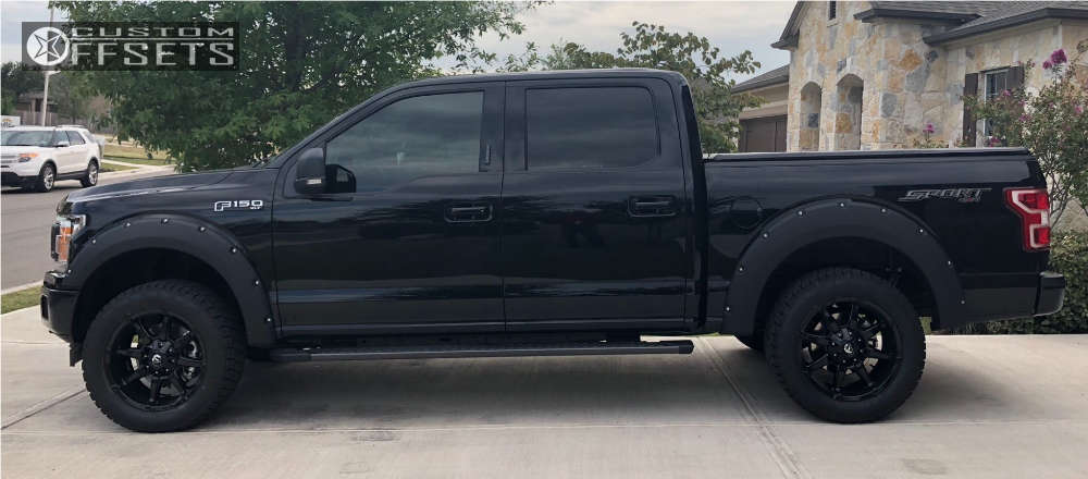 2018 Ford F-150 Slightly Aggressive on 20x9 1 offset Fuel Coupler and 305/55 Nitto Terra Grappler G2 on Leveling Kit - Custom Offsets Gallery
