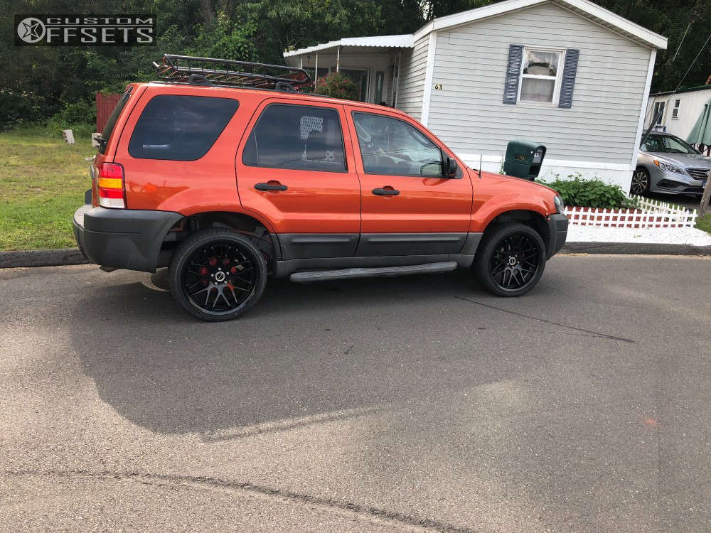 2006 Ford Escape Nearly Flush on 20x8.5 38 offset Strada Moda and 245/35 Lexani Lx Six on Stock Suspension - Custom Offsets Gallery